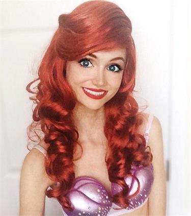 美国女子天生童话公主脸图片