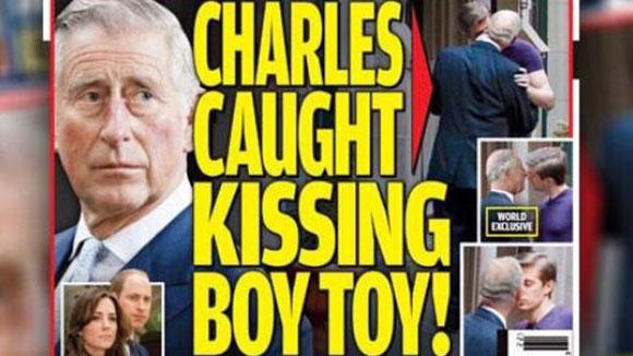 太劲爆了!查尔斯王子街边与年轻男人接吻