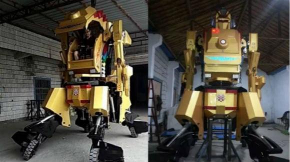工科男花五六十万 为儿子造出四米高机器人