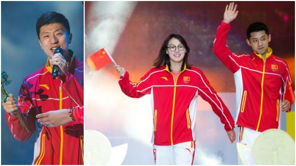 """奥运健儿与澳门市民联欢庆胜利:马龙现场""""开个唱"""""""