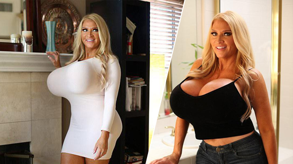 美国女模特隆胸三次 胸围暴涨仍不满足