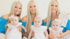 3胞胎美女做DNA 结果令人惊讶