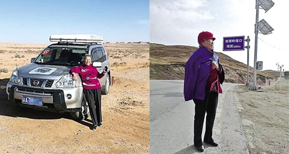 54岁儿子带89岁母亲自驾游 母亲开心拍照发朋友圈