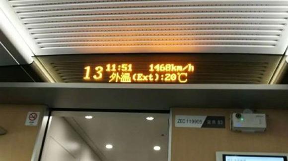 中国高铁竟飚出1468公里时速 网友炸锅了