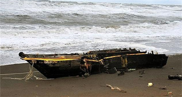 """又一艘朝鲜""""幽灵船""""到日本 载有2具遗体"""