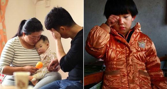 1岁娃患病被嘲笑 姐姐和同村孩子打架