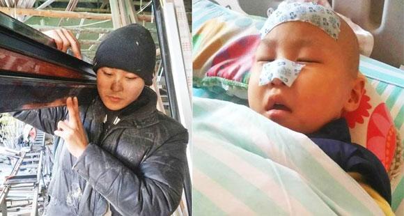 为给5岁女儿治病,他一天只睡4小时