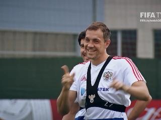 1日比赛俄罗斯队赛前采访训练视频