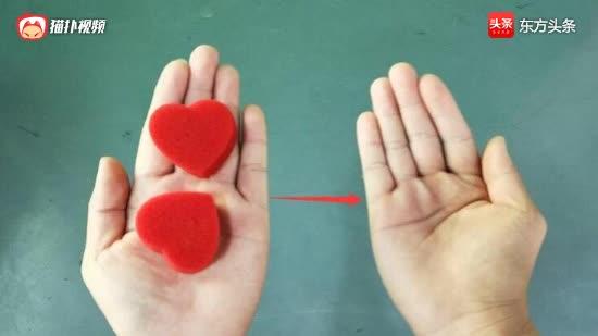 海棉心在手上瞬间转移,没有任何特殊机关,看一遍就能学会