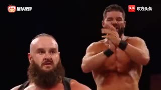 WWE 欧文斯击败荣耀哥!人间怪兽看不下去了围阻
