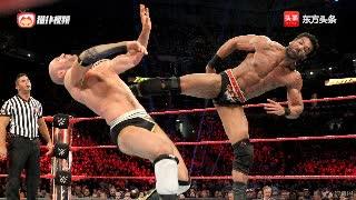 WWE2003年高柏WWE首秀飞冲肩洛克