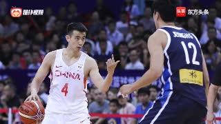 彰显球商!中韩男篮世预赛,中国男篮红队核心赵继伟现神级抢断