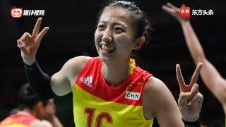 丁霞,世界女排联赛集锦,中国女排vs比利时女排