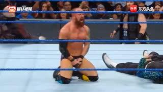 WWE狂人帮助力埃里克杨争全美冠军乌索兄弟解围杰夫哈迪