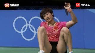 澳大利亚公开赛女单决赛,刘诗雯大角度调动丁宁重心不稳摔倒