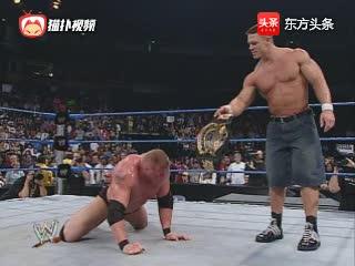 约翰塞纳捍卫WWE霸主地位!霸气暴揍半兽人布洛克莱斯纳!