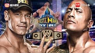 WWE约翰塞纳对巨石强森,世界大战的摔跤冠军29次!