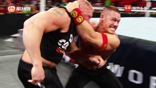 WWE世界重量级冠军布洛克·莱斯纳和约翰·塞纳发生争吵