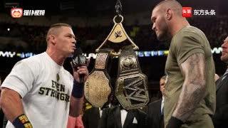 WWE约翰塞纳和兰迪奥顿签约现场,突然出手打塞纳!