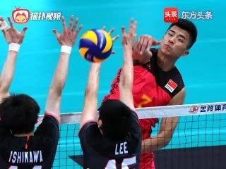 中日男排对抗赛第二场精彩片段集锦!