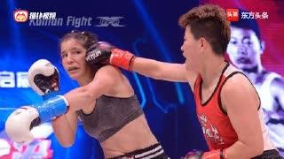 抗癌战士自由搏击擂台遗憾被KO!泰拳让她倒下又坚强的站起来