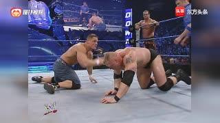 WWE布罗克莱斯纳尔和大戏对阵约翰·塞纳和克里斯