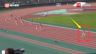 4*100米接力最后一棒韦永丽爆发,甩开日本选手20米夺冠