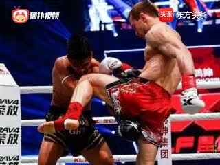 昆仑决诸神之战初代王者祖耶夫重拳将对手眉骨打开,血流不止!