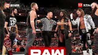 WWE布朗斯特罗曼及其兄弟的复仇局,直接砸断桌子!