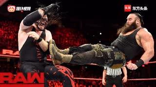 WWE人间怪兽黑山羊实力暴走,红魔凯恩被揍惨了!