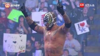 WWE巴蒂斯塔与神秘人雷尔比赛,谁成想被MC朋克偷袭