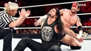 WWE公文包单打罗曼雷恩斯与巴雷特国王一决雌雄!