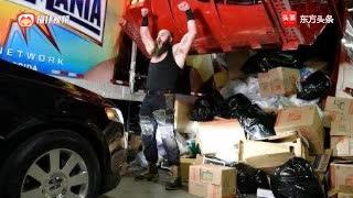 WWE黑山羊从停车场一现身,吓得米兹逃之夭夭!
