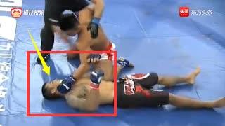 实力强敌扬言要KO中国杨茁,结果不料仅20秒被5拳打懵KO