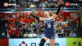 女排世锦赛中国vs阿塞拜疆集锦!丁霞调度得当三人得分上双!