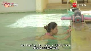 水中有氧运动健身,美女教练教你3种运动姿势,简单易学