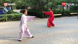 北京武术名家高继武先生弟子杨秀华与刘昆的形意拳合练
