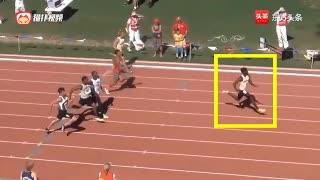 未来的博尔特?美国高中生后程加速能力惊人,100米赢对手5米