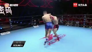 中国小将惨遭KO,被东欧拳王一拳秒杀倒地不起,裁判赶紧叫停