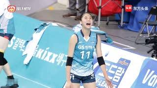 韩国女排赛前训练花絮,姑娘表情可真丰富