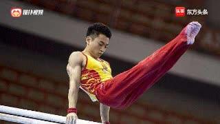 男子双杠决赛 中国选手邹敬园高分夺冠