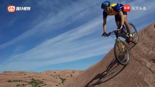 极限运动,死亡垂直下坡,可以听见骑行者心跳