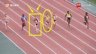 亚洲短跑一姐之争!中国韦永丽甩开日本名将夺冠,突破16年纪录