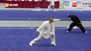心意六合拳传人高明君在第七届世界传统武术锦标赛上表演的四把捶