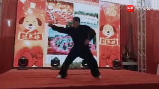 民间八极拳传人在活动中表演的八极拳小架,功夫扎实!