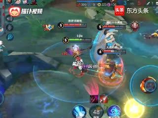 王者荣耀:娜可露露遭遇三人围剿,一个正确的选择,反杀后逃生
