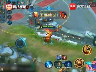 王者荣耀:猴子打野等级压制敌方5级,两棒敲死坦克,无人不服