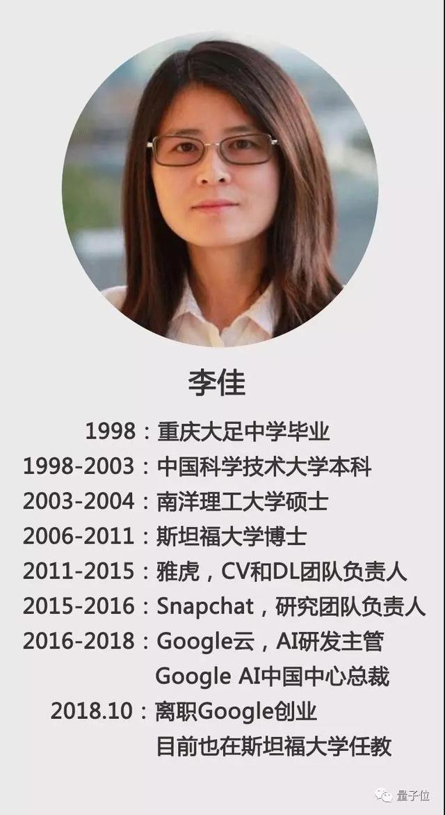 谷歌AI中国中心总裁李佳离职创业
