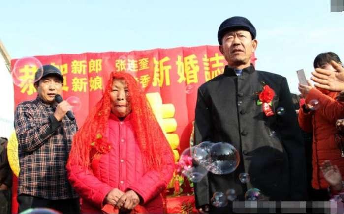 广东六旬老汉娶了一位未婚大姑娘,掀下盖头村民都笑了