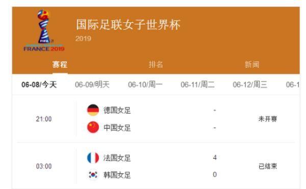 女足世界杯进首球,东道主法国大胜韩国队,玫瑰名宿送中国队寄语